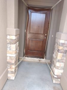 Improved curb appeal with front door after toning